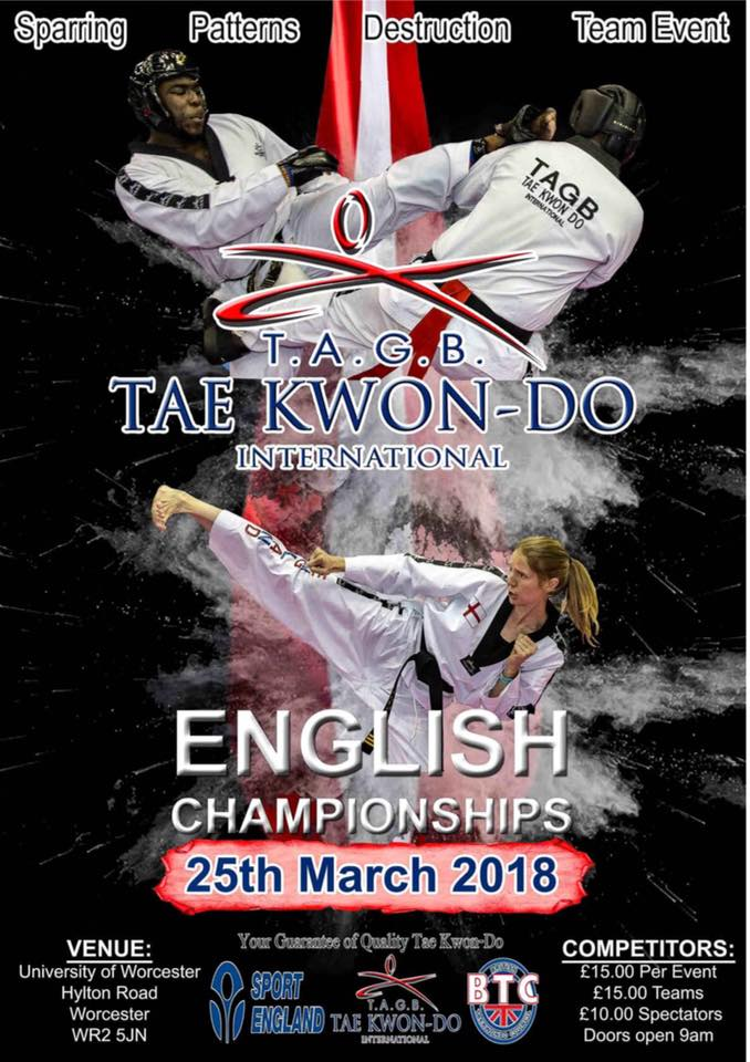 TAGB English Championships 2018 Poster